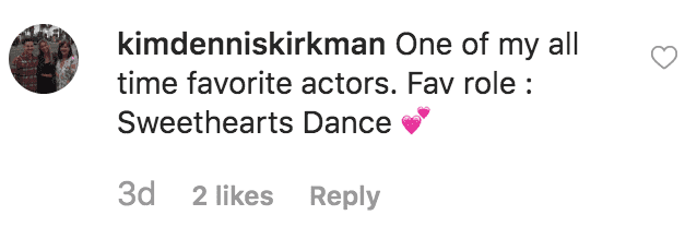 A fan comments on Kelley Phleger's birthday message to Don Johnson | Source: instagram.com/kelley.johnson