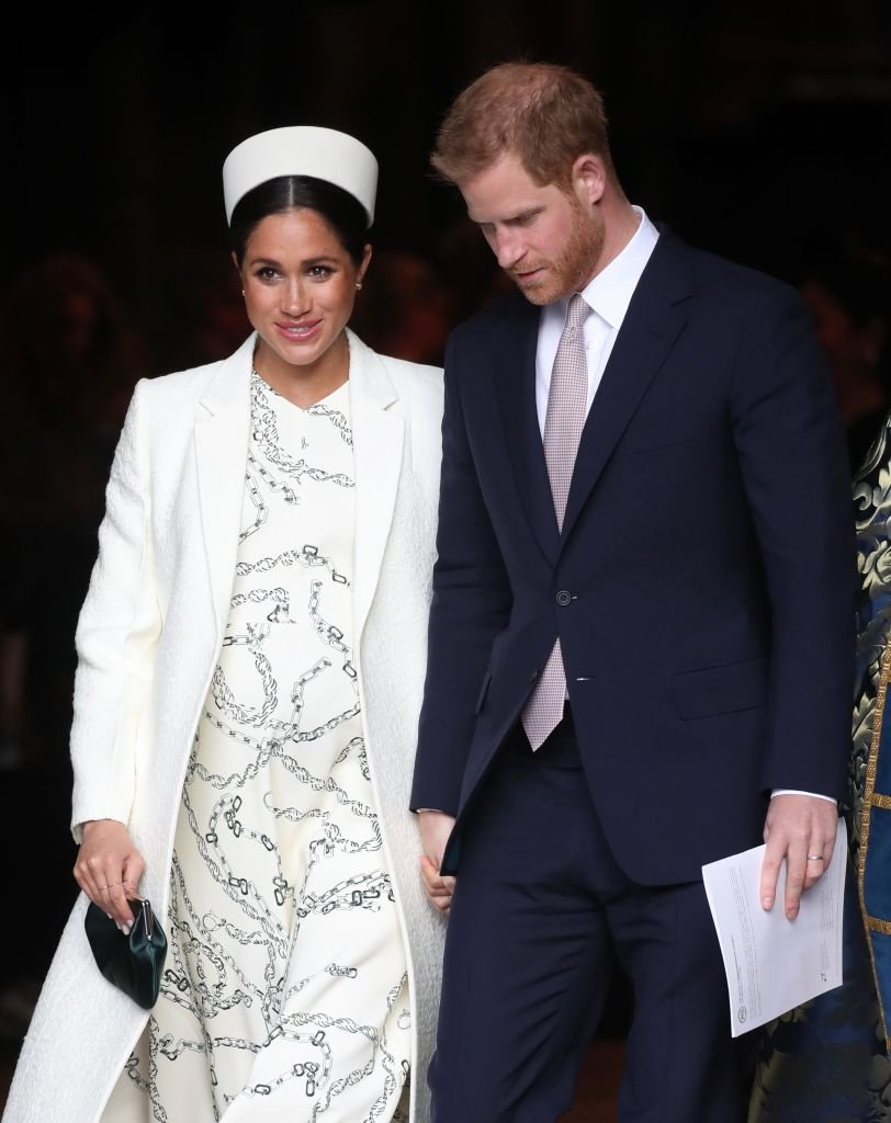 Meghan, Duchess of Sussex and Prince Harry, Duke of Sussex depart the Commonwealth Service on Commonwealth Day at Westminster Abbey | Photo: Getty Images