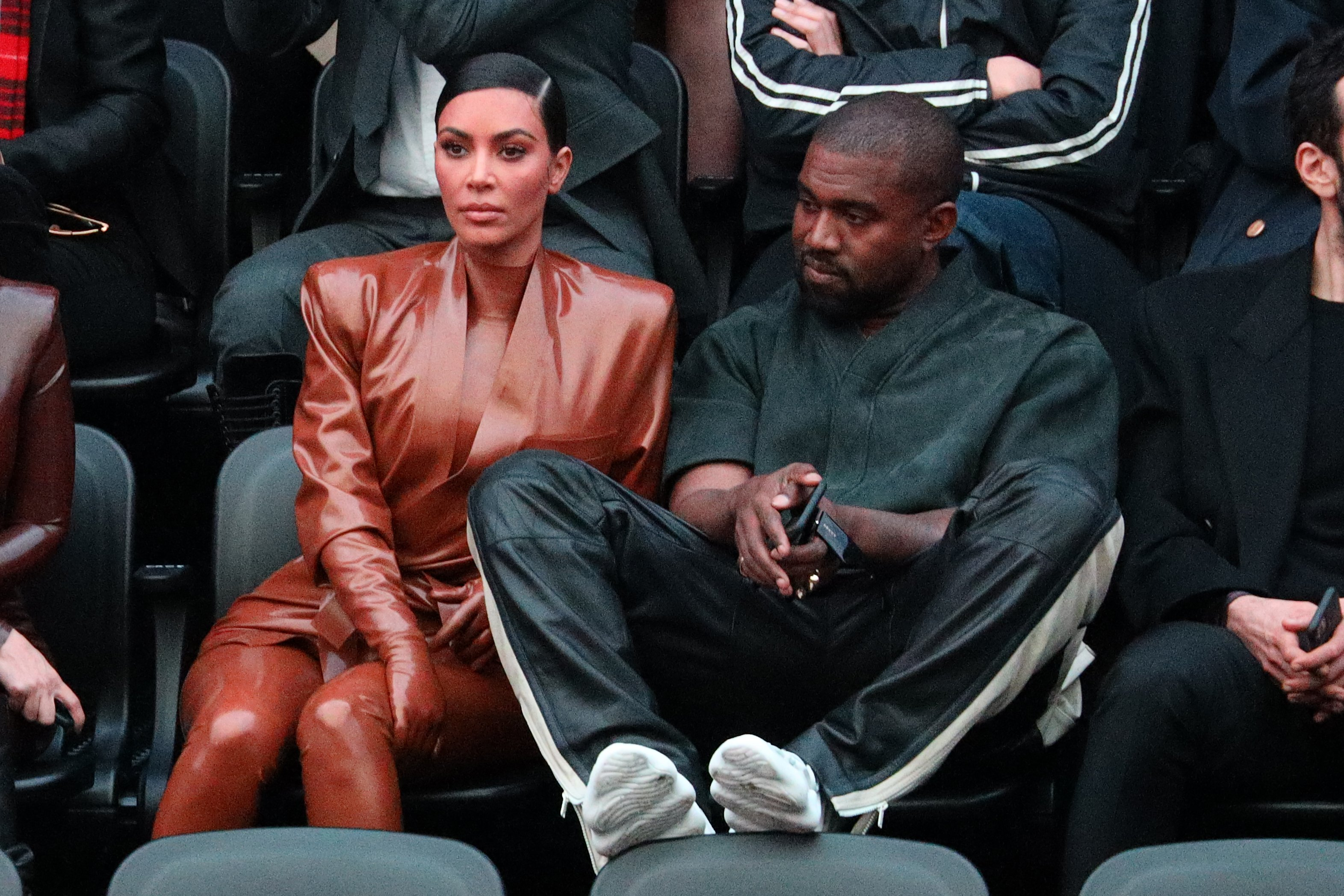Kim Kardashian and Kanye West attend the Paris Fashion Week Womenswear Fall/Winter 2020/2021 on March 01, 2020, in Paris, France. | Source: Getty Images.