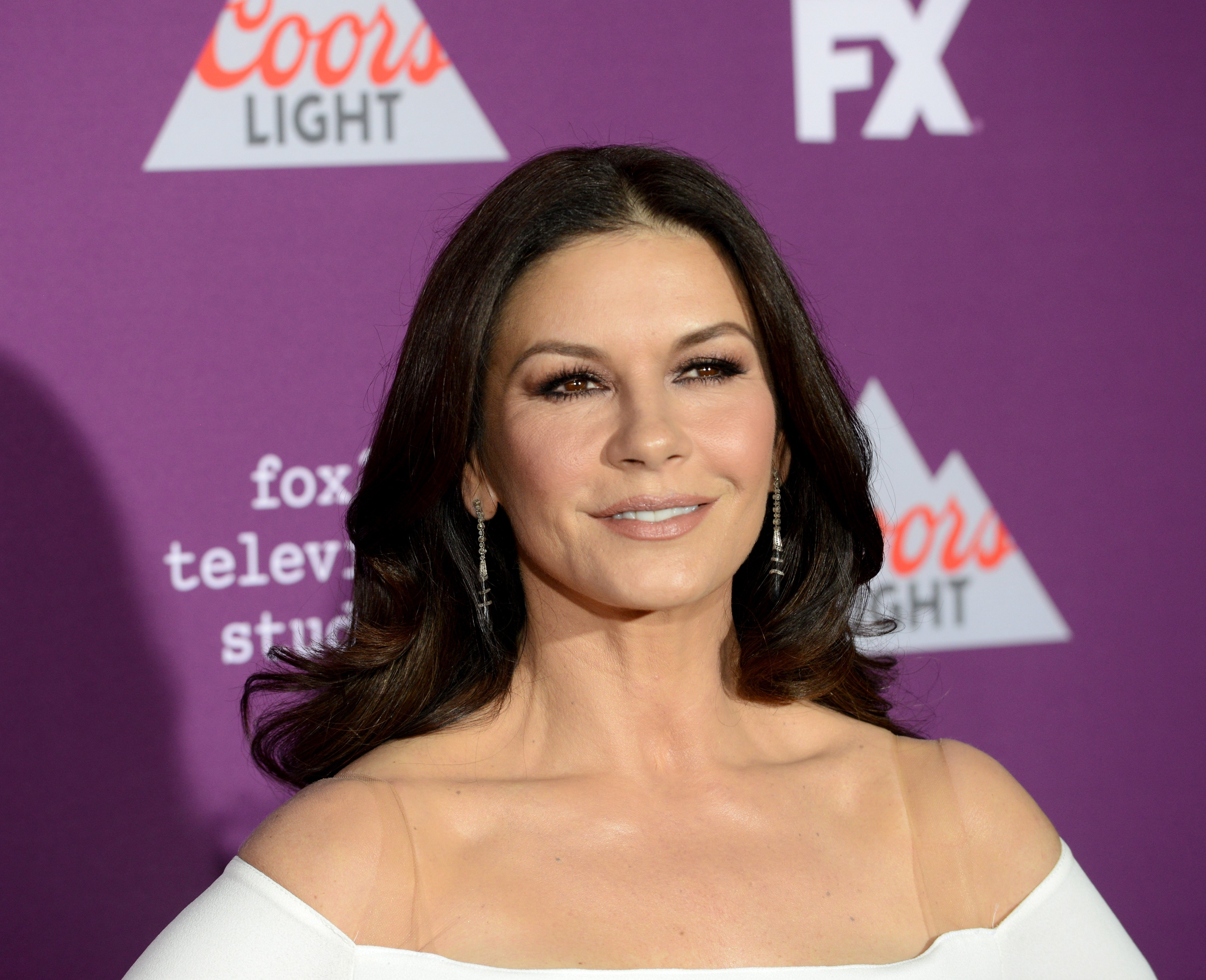 Catherine Zeta-Jones during a 2017 premiere in Hollywood. | Photo: Getty Images