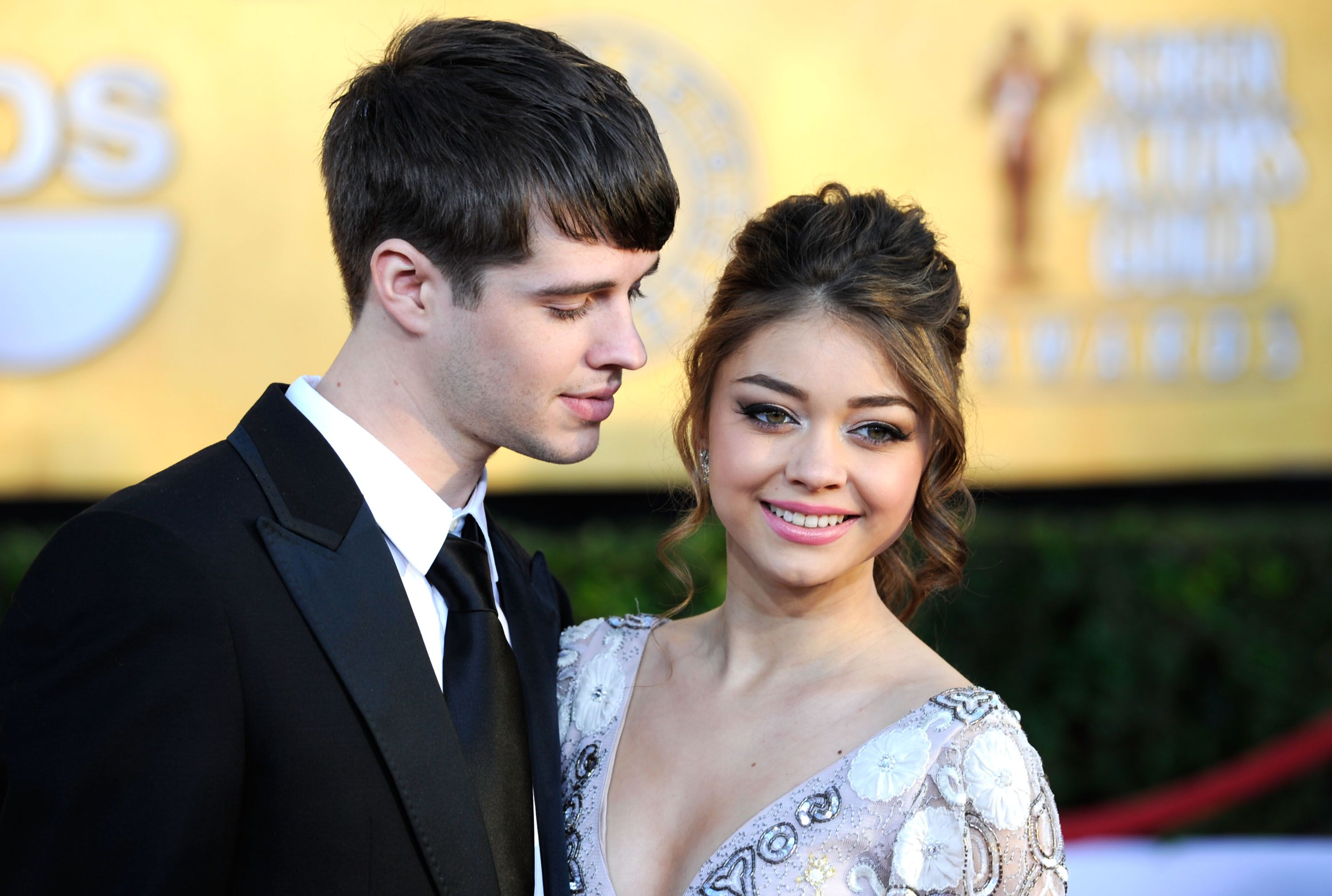 Matt Prokop and Sarah Hyland at the 18th Annual Screen Actors Guild Awards in 2012 in Los Angeles | Source: Getty Images