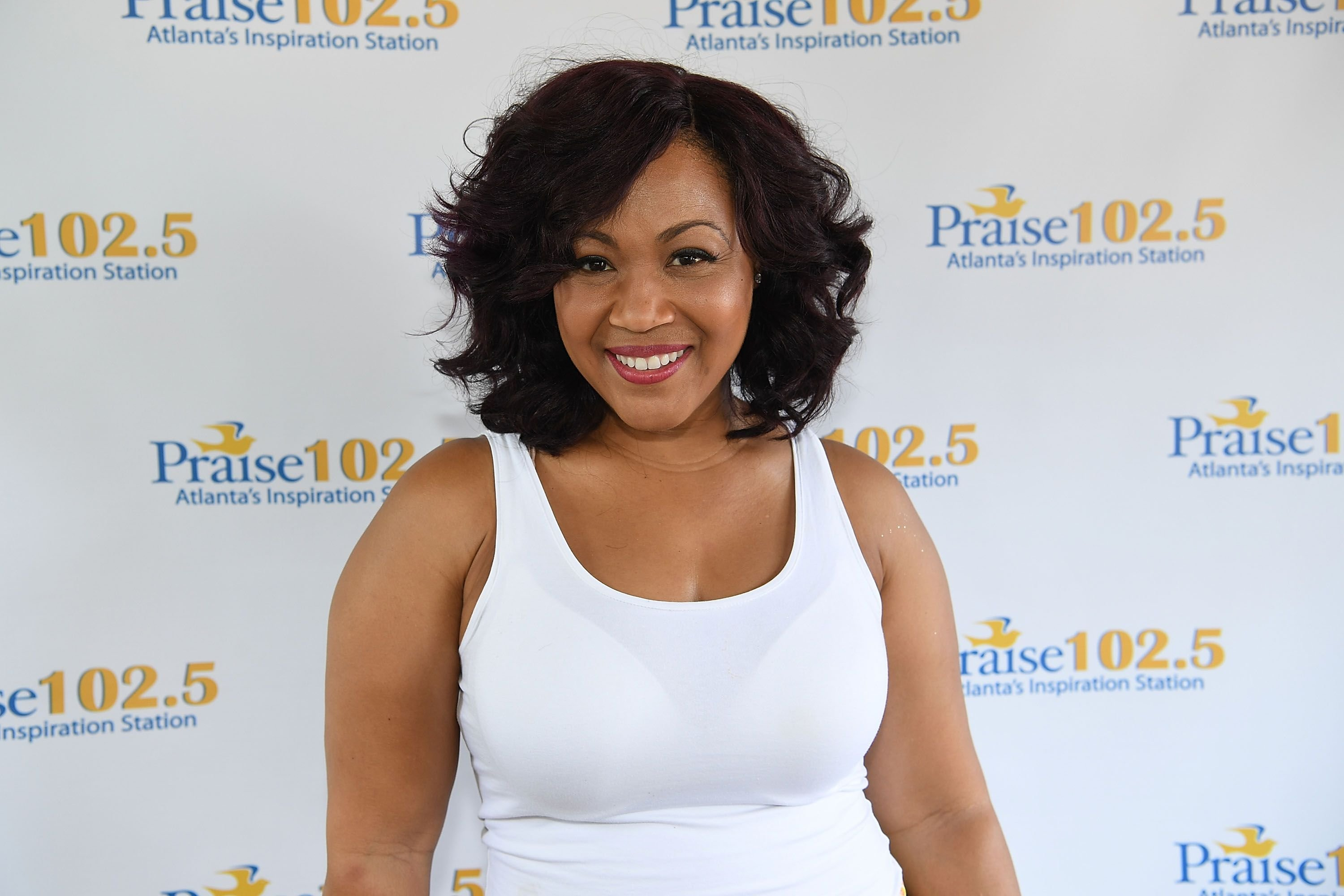 """Erica Campbell at the Praise 102.5's """"Praise In The Park"""" at the Centennial Olympic Park on August 6, 2016 in Atlanta, Georgia. 