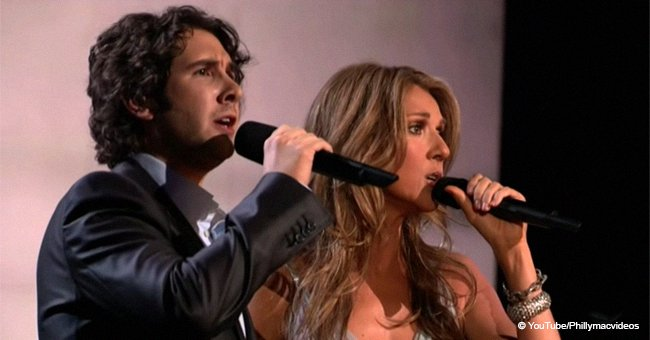 Céline Dion once sang with a teen as Andrea Bocelli couldn't make it; it turned into pure magic