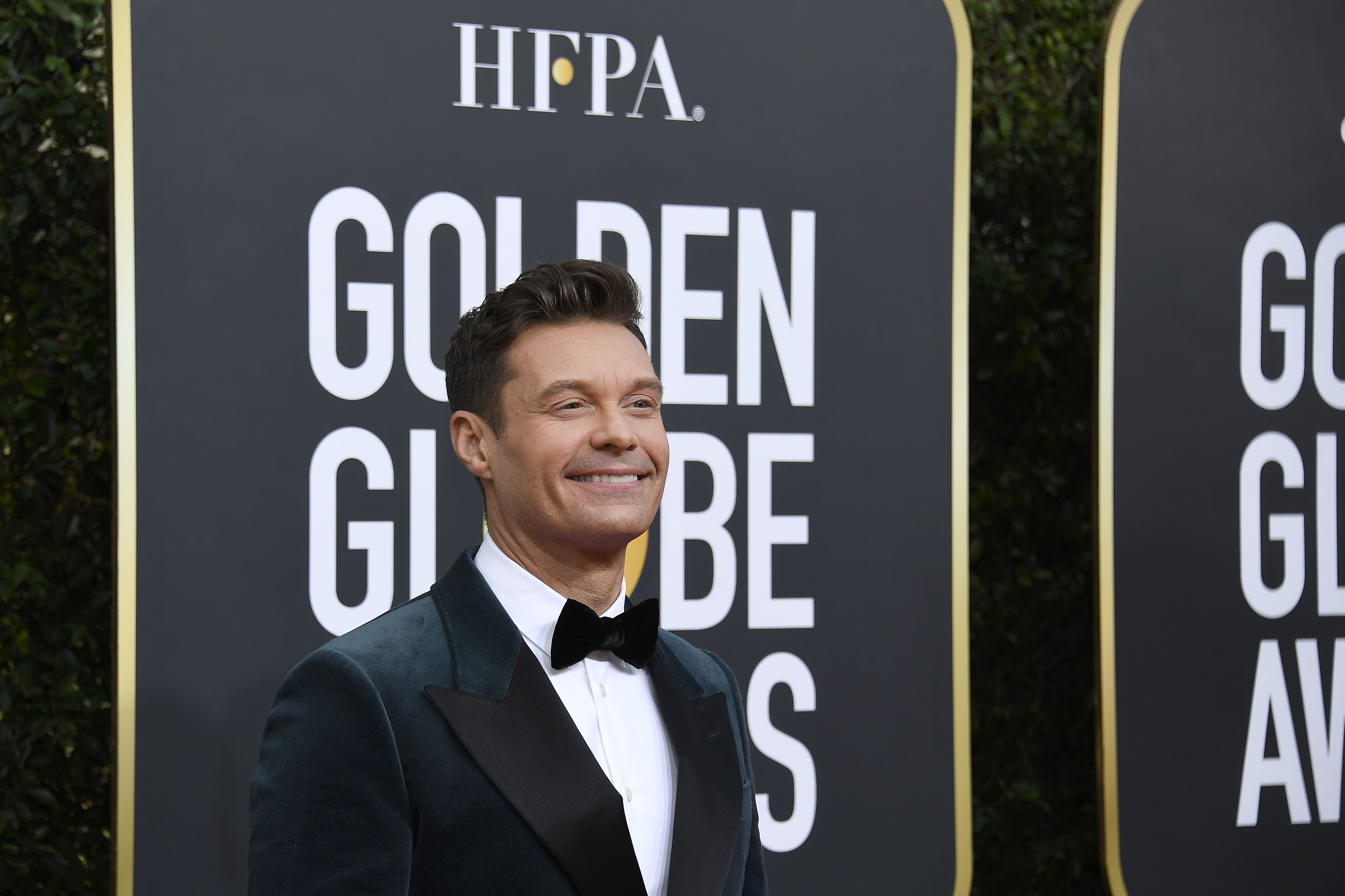 Ryan Seacrest arrives to the 77th Annual Golden Globe Awards held at the Beverly Hilton Hotel on January 5, 2020. | Source: Getty Images