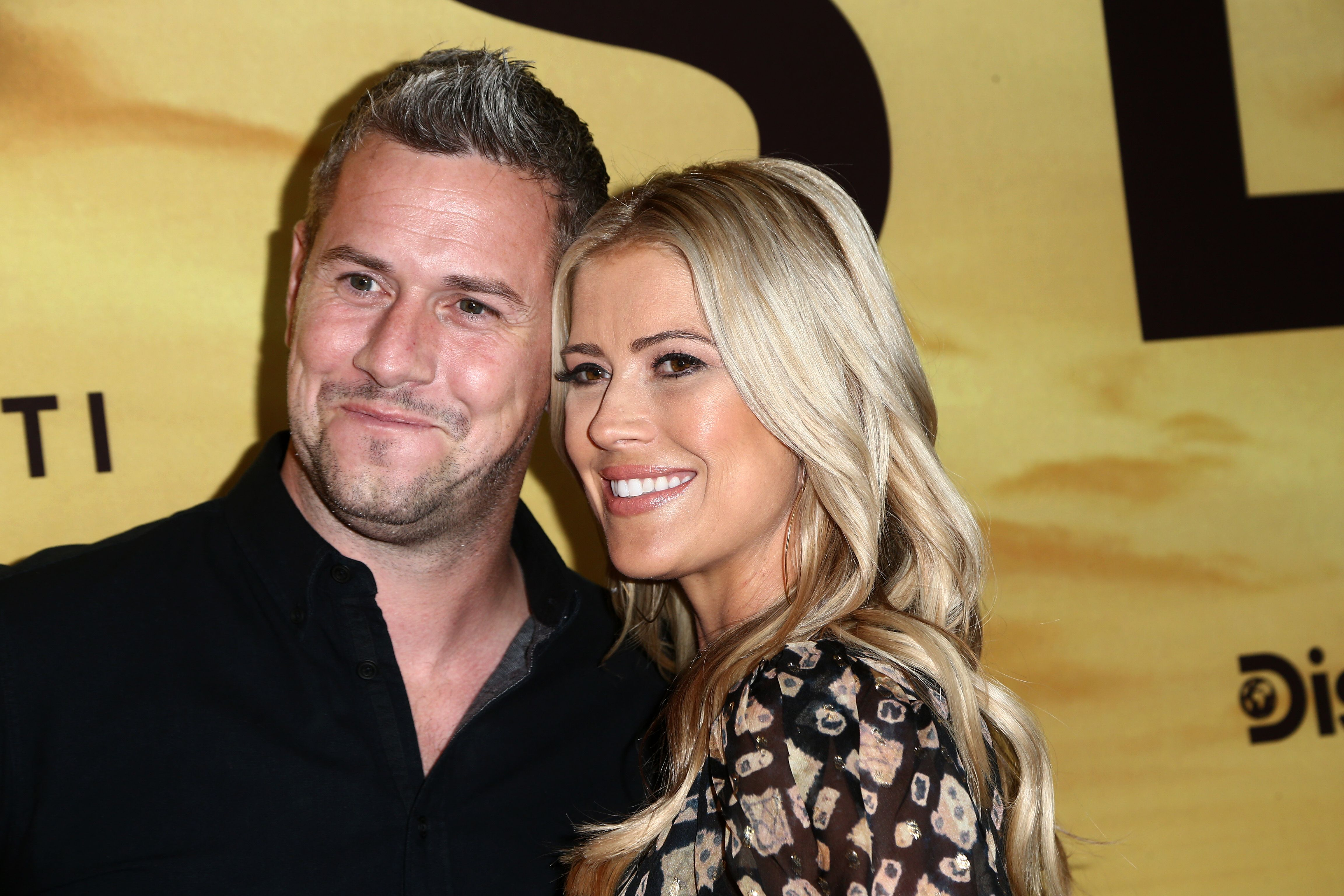 "Christina and Ant Anstead at a special screening of ""Serengeti"" in July 2019 in Beverly Hills 
