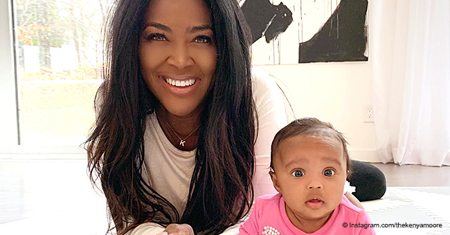 Kenya Moore and Her 'Little Doll Baby Love' Pose in Lovely Picture, Showing How Much They Look Alike