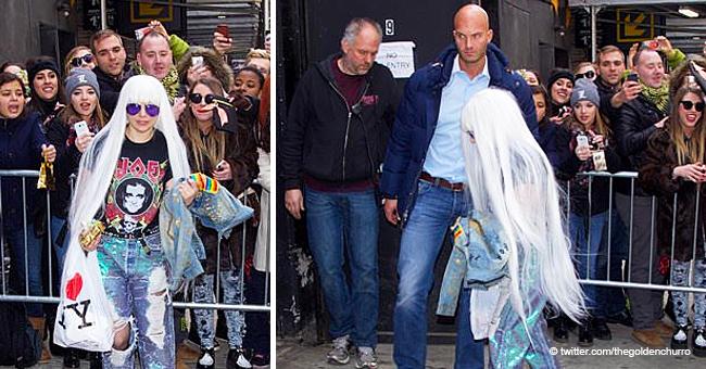 Les fans perplexes face à la taille de Lady Gaga sur une photo Bizarre aux côtés d'un garde du corps