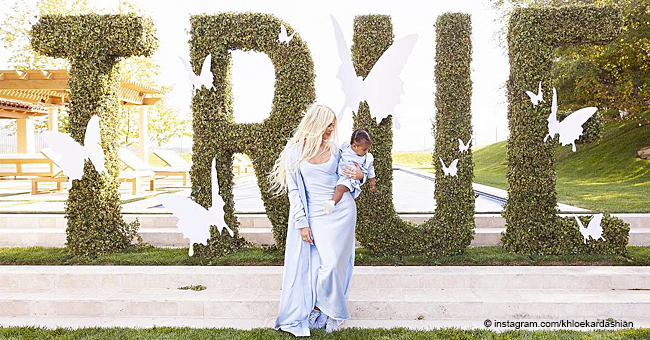 Khloé Kardashian Roasted for 'TRUE' Sign at Her Daughter's First Birthday Party