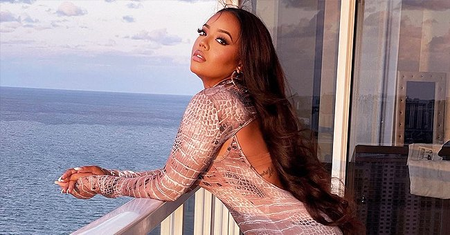 See Angela Simmons Put Her Curves on Display in a Skintight Snake-Printed Bodysuit in New Photos