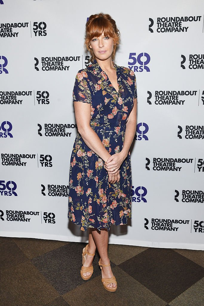 """Actress Kelly Reilly at the """"Old Times"""" Broadway Cast Photocallon August 26, 2015 