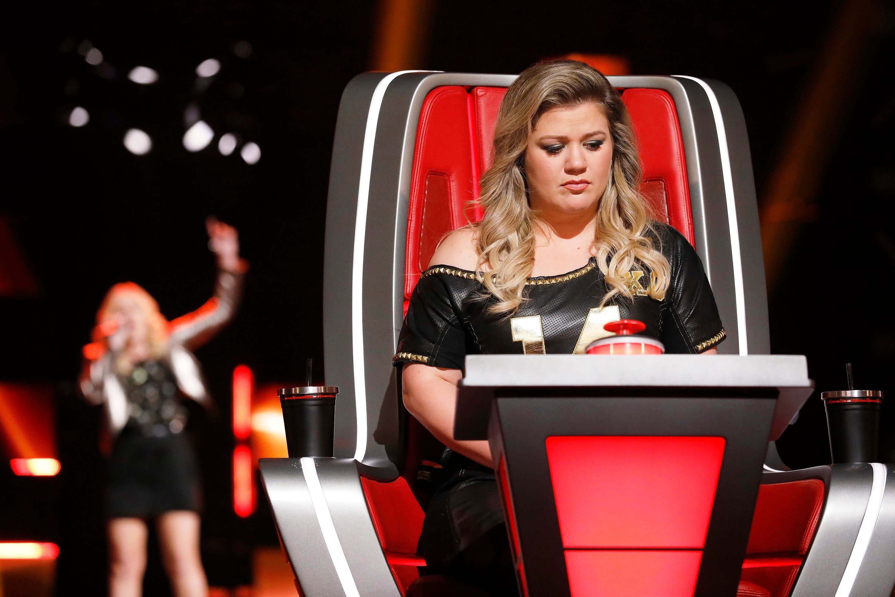 "Country star Kelly Clarkson  during ""The Voice's"" Blind Auditions 