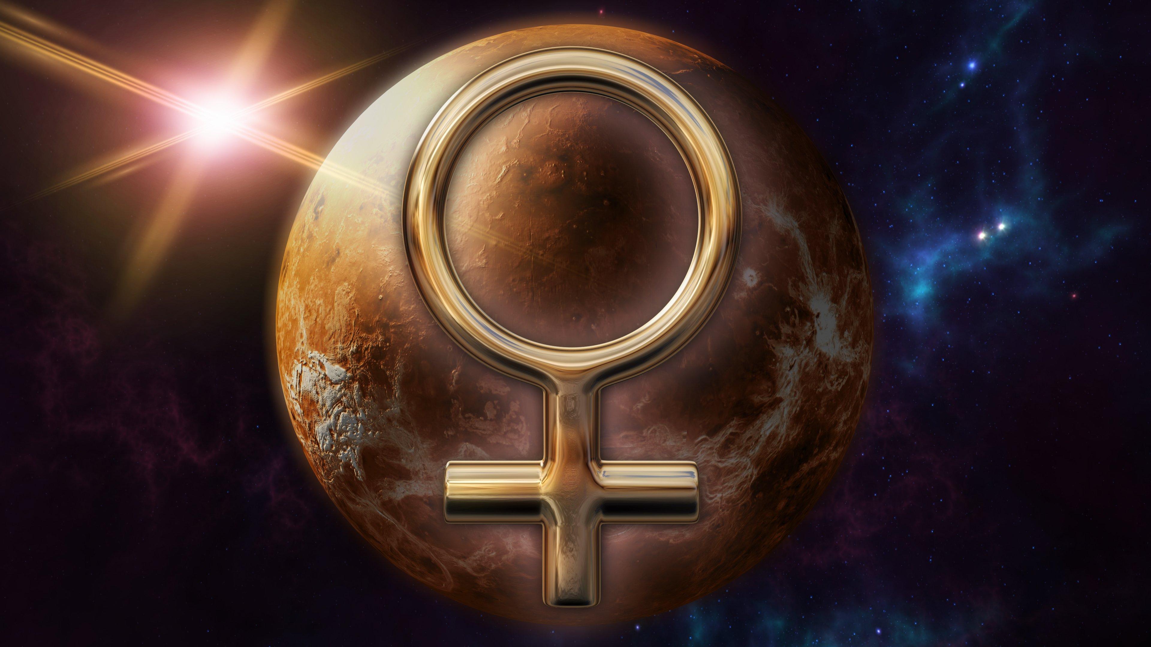 Símbolo zodiacal y planeta de Venus || Fuente: Shutterstock