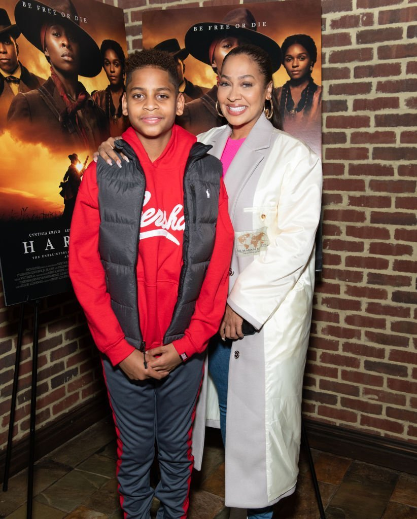 """Kiyan Carmelo Anthony and La La Anthony attend the """"Harriet"""" New York Screening at The Roxy Hotel 