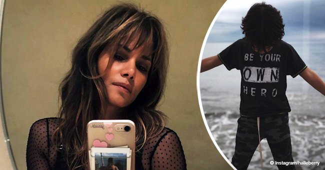 Halle Berry shares pic of son on the beach after revealing why she decided to show his face online