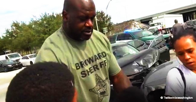 Shaquille O'Neal photographed comforting family-of-five shaken by Thanksgiving car crash