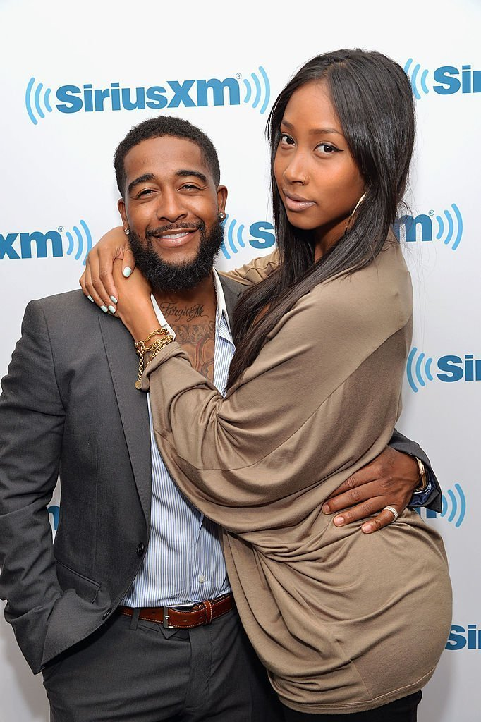 R&B singer Omarion and girlfriend Apryl Jones visit SiriusXM Studios | Photo: Getty Images