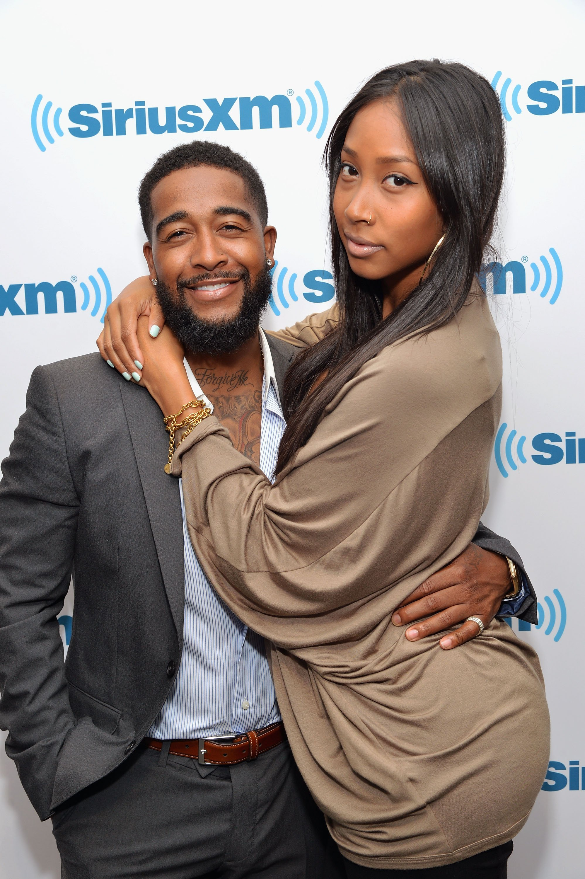 Omarion & Apryl Jones visit SiriusXM Studios on May 1, 2014 in New York City. |Photo: Getty Images