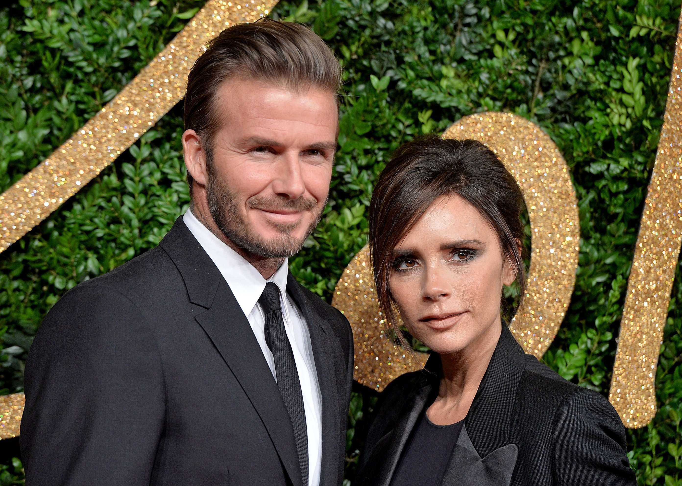 The power couple Victoria and David Beckham.