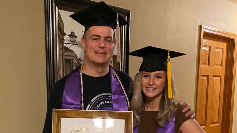 Mike Loven celebrated his graduation from GCU with daughter Taleigh. | Source: Facebook/Good Morning America