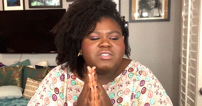 'Empire' Star Gabby Sidibe Stuns in Peach-Colored Outfit Showing off Her Makeup & Styled Hair