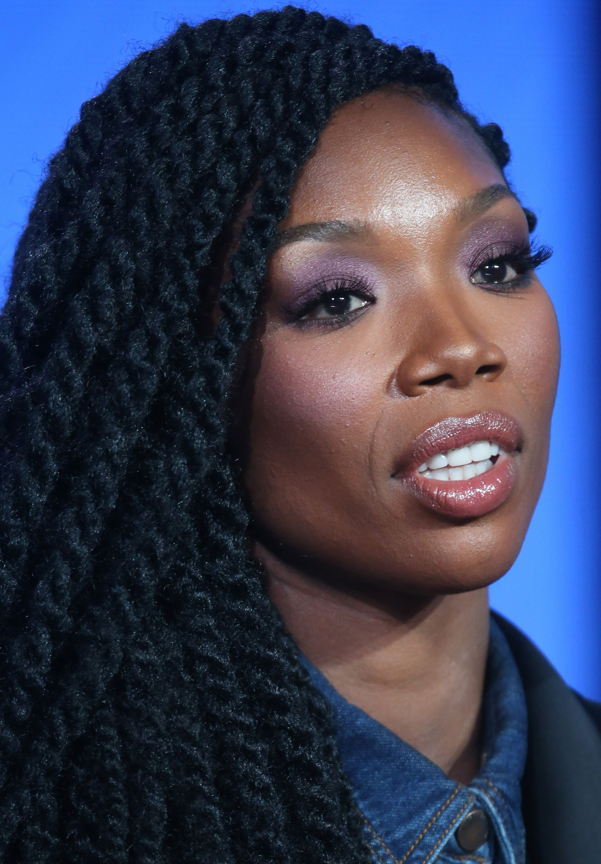 Actress Brandy Norwood speaks onstage during the BET-Zoe Ever After panel as part of the Viacom portion of This is Cable 2016 Television Critics Association Press Tour at Langham Hotel | Photo: Getty Images