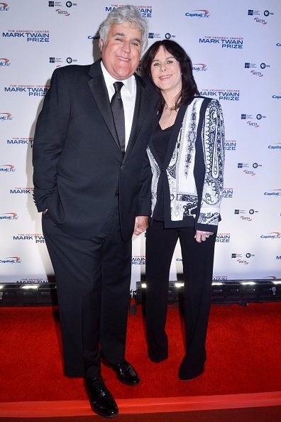 Jay Leno and Mavis Leno walks the red carpet during the 2014 Kennedy Center's Mark Twain Prize For Americacn Humor at The John F. Kennedy Center for the Performing Arts on October 19, 2014, in Washington, DC. | Source: Getty Images.