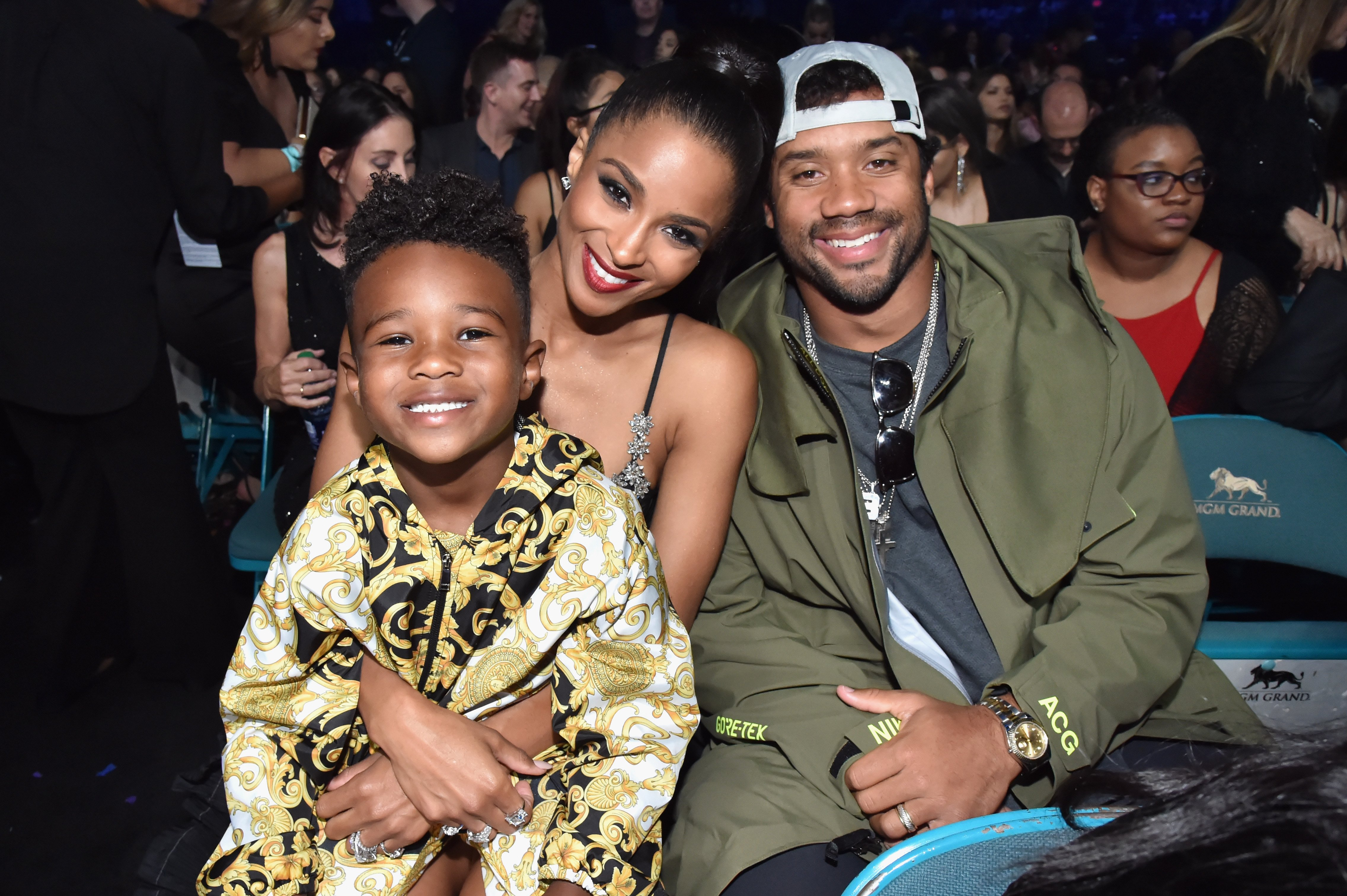 Future Zahir Wilburn, Ciara and Russell Wilson pictured at the 2019 Billboard Music Awards on May 1, 2019 in Las Vegas, Nevada.   Source: Getty Images