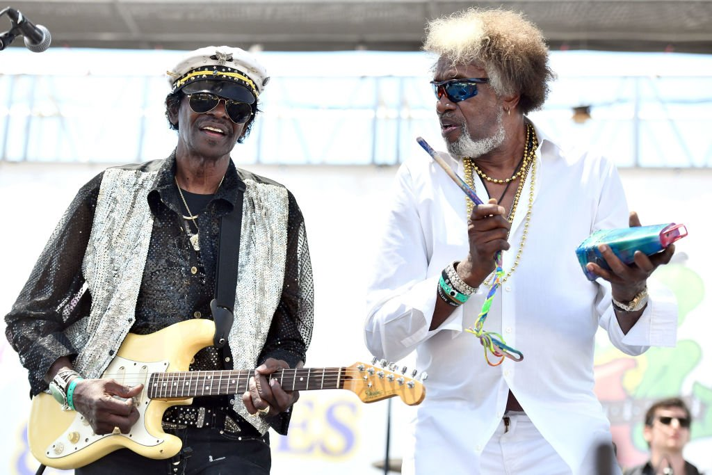 Singers Willie Chambers (L) and Joe Chambers (R) of The Chambers Brothers performs onstage during day 2 of the Simi Valley Cajun and Blues Music Festival | Photo: Getty Images