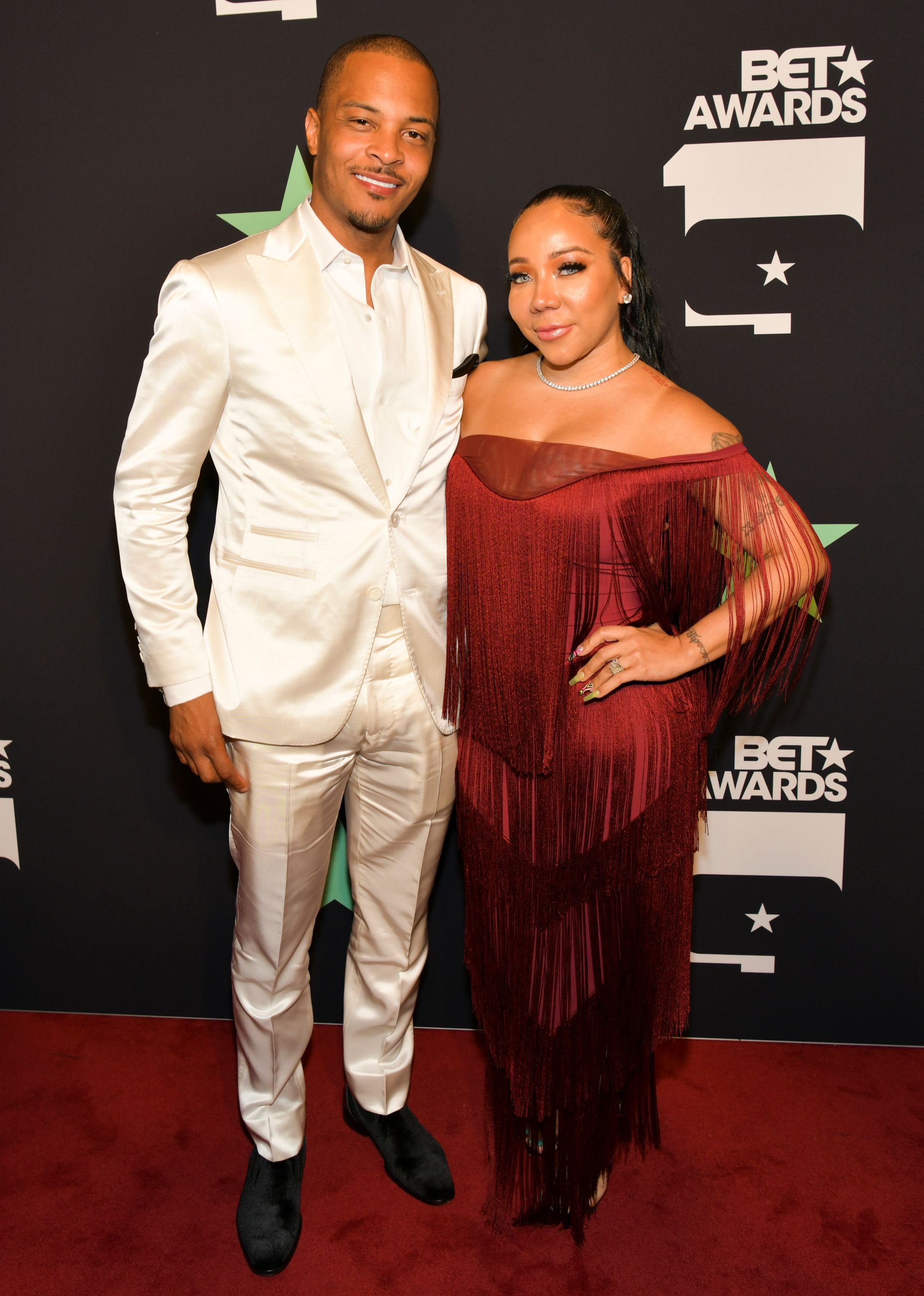 T.I. Harris and Tiny Harris during the 2019 BET Awards on June 23, 2019 in Los Angeles, California. | Source: Getty Images