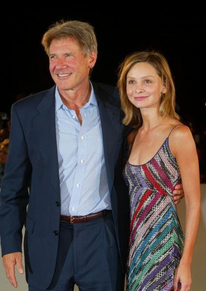 Harrison Ford and Calista Flockhart at the 59th Venice Film Festival on September 1, 2002 in Venice, Italy | Photo: Getty Images