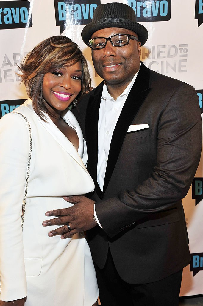 "Quad Webb and Dr. Gregory Lunceford at the Season 2 premiere of ""Married to Medicine"" in April 2014. 