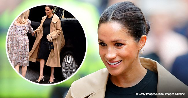 Meghan Markle wears cow-print heels during charity visit which she once showed off on Instagram