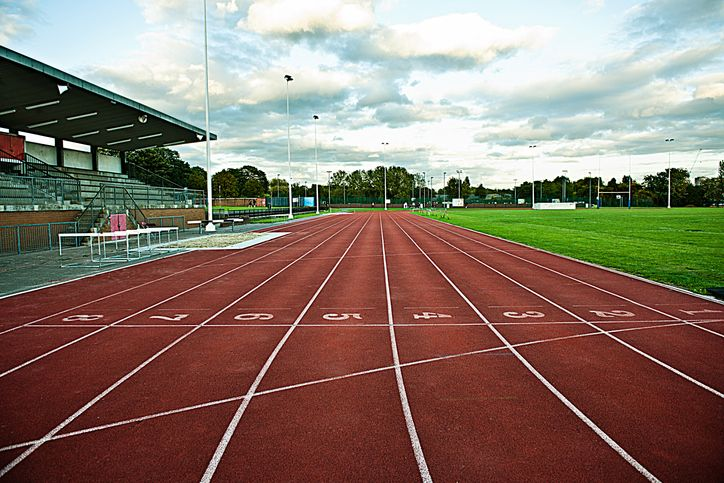 An empty sports track.  Source: Getty Images