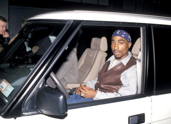 "Tupac Shakur during Party For Cowboy Noir Thriller ""Red Rock West"" at Club USA 