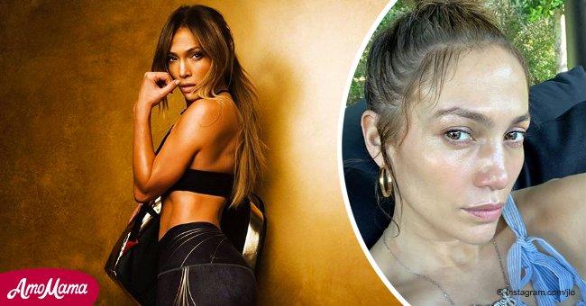 Jennifer López desconcierta a fans sobre su edad tras compartir increíbles fotos sin maquillaje
