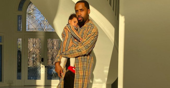 L&HH Star Safaree & His Adorable Daughter Safire Look Stylish in Matching Burberry Ensembles