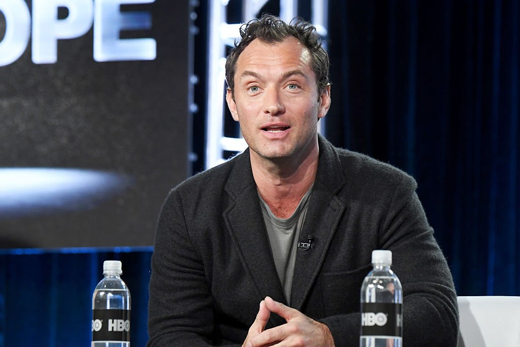 """Jude Law of the limited series """"The Young Pope"""" speaks onstage during the HBO portion of the 2017 Winter Television Critics Association Press Tour at Langham Hotel on January 14, 2017   Photo: Getty Images"""