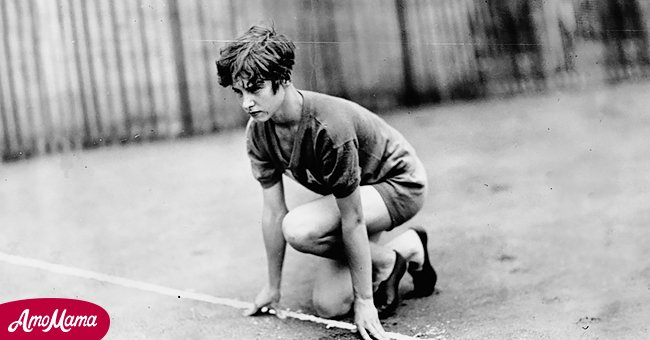 Betty Robinson in the 100-meter race at the 1928 Olympic games   Source: Getty Images