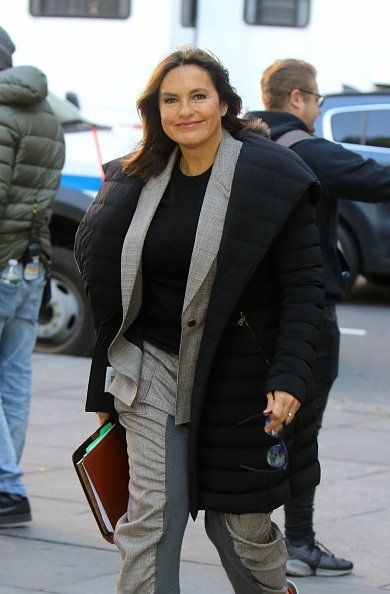 """Mariska Hargitay on the set of """"Law and Order: Special Victims Unit"""" on November 06, 2019 