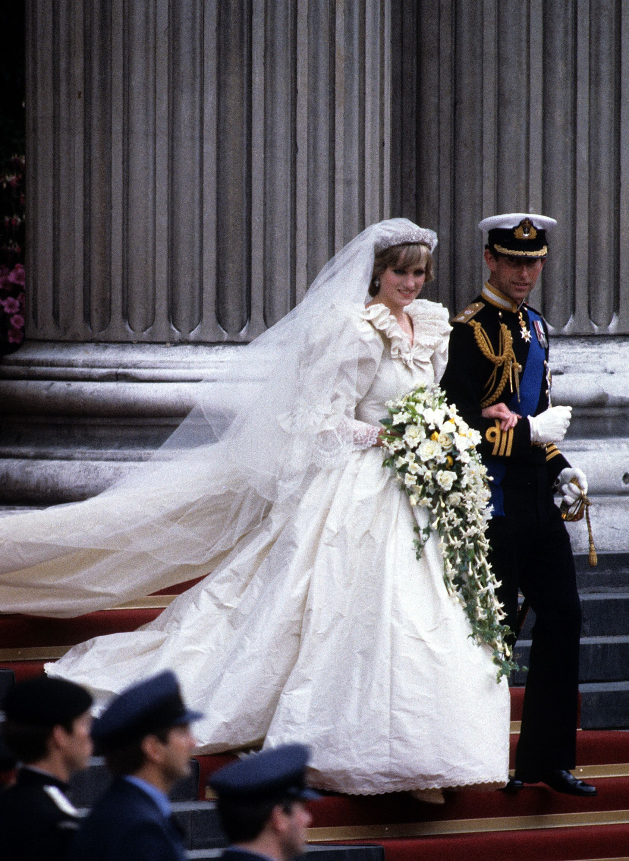 Princess DIana and Prince Charles on their wedding day, July 29, 1981| Source: Getty Images