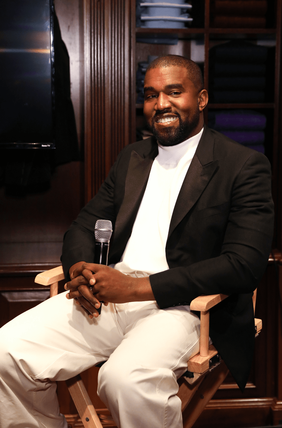 Kanye West attends Jim Moore Book Event At Ralph Lauren Chicago on October 28, 2019 in Chicago, Illinois. | Source: Getty Images