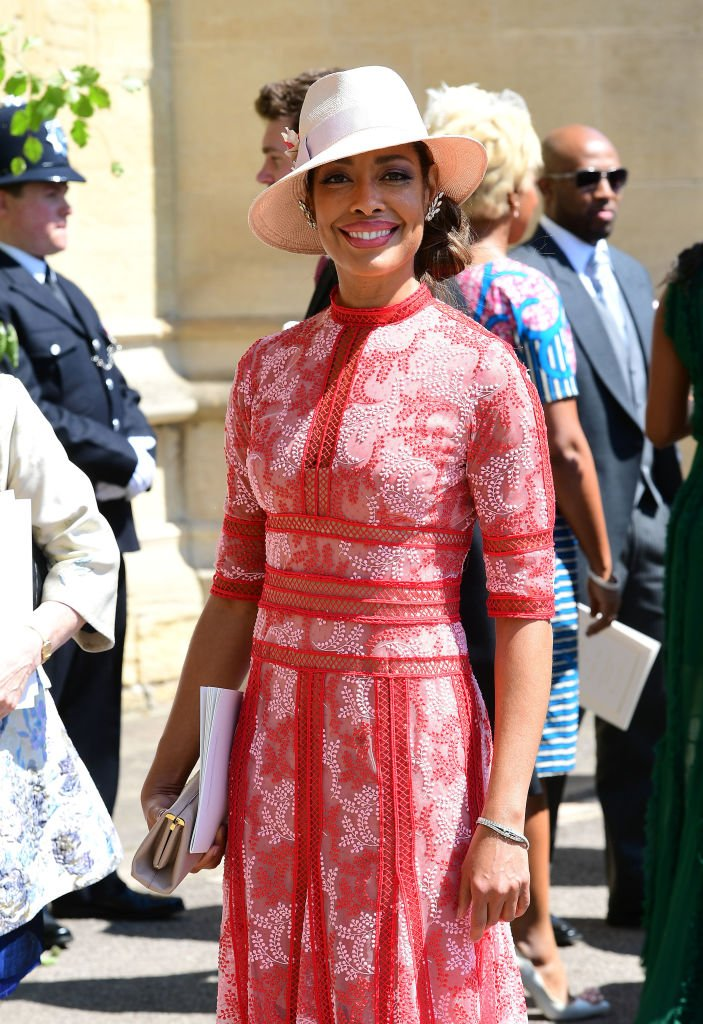 Gina Torres leaves St George's Chapel at Windsor Castle after the wedding of Meghan Markle and Prince Harry on May 19, 2018 in Windsor, England | Photo: GettyImages
