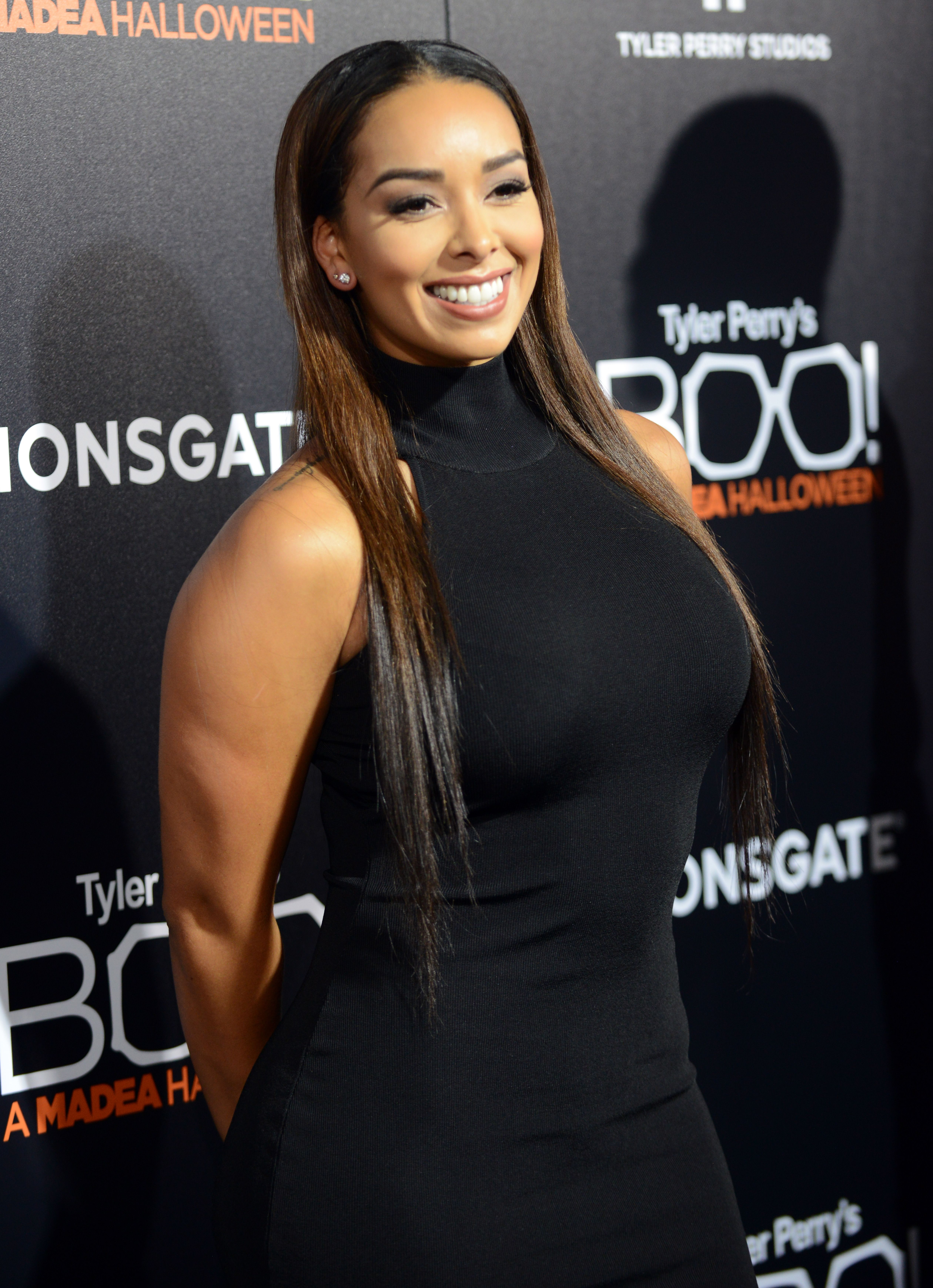 """Reality star Gloria Govan attends the premiere of Lionsgate's """"Boo! A Madea Halloween"""" held at ArcLight Cinemas Cinerama Dome in October 2016 in Hollywood, California. 