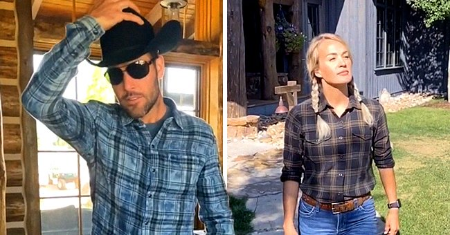 Carrie Underwood and Mike Fisher Dress up like Cowboys for a Family Video