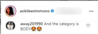 A fan's comment under a picture of Aoki Lee Simmons and her brothers, posted on Instagram. | Photo: Instagram/aokileesimmons