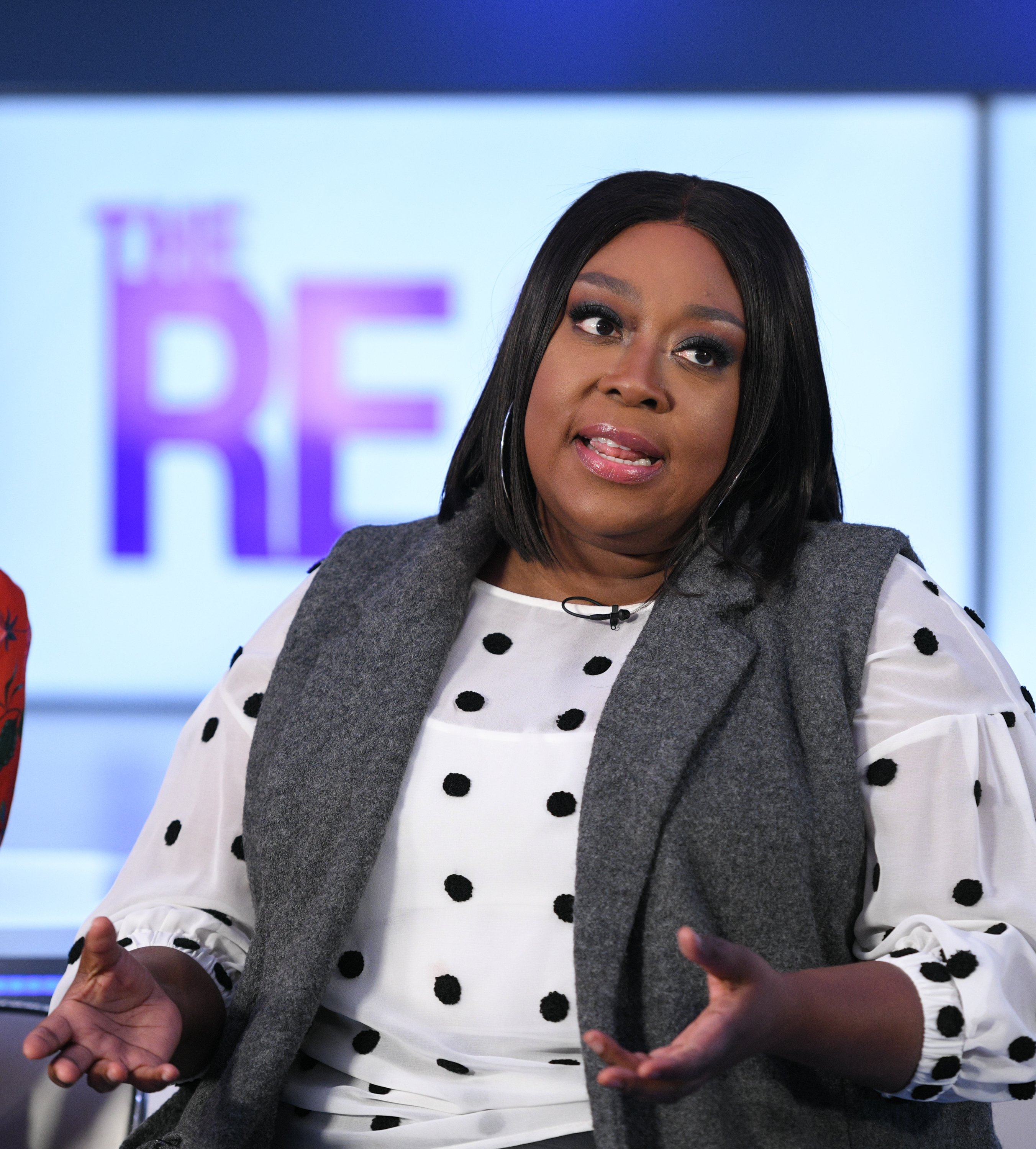 "Loni Love at the set of ""Extra"" in November 2019. 