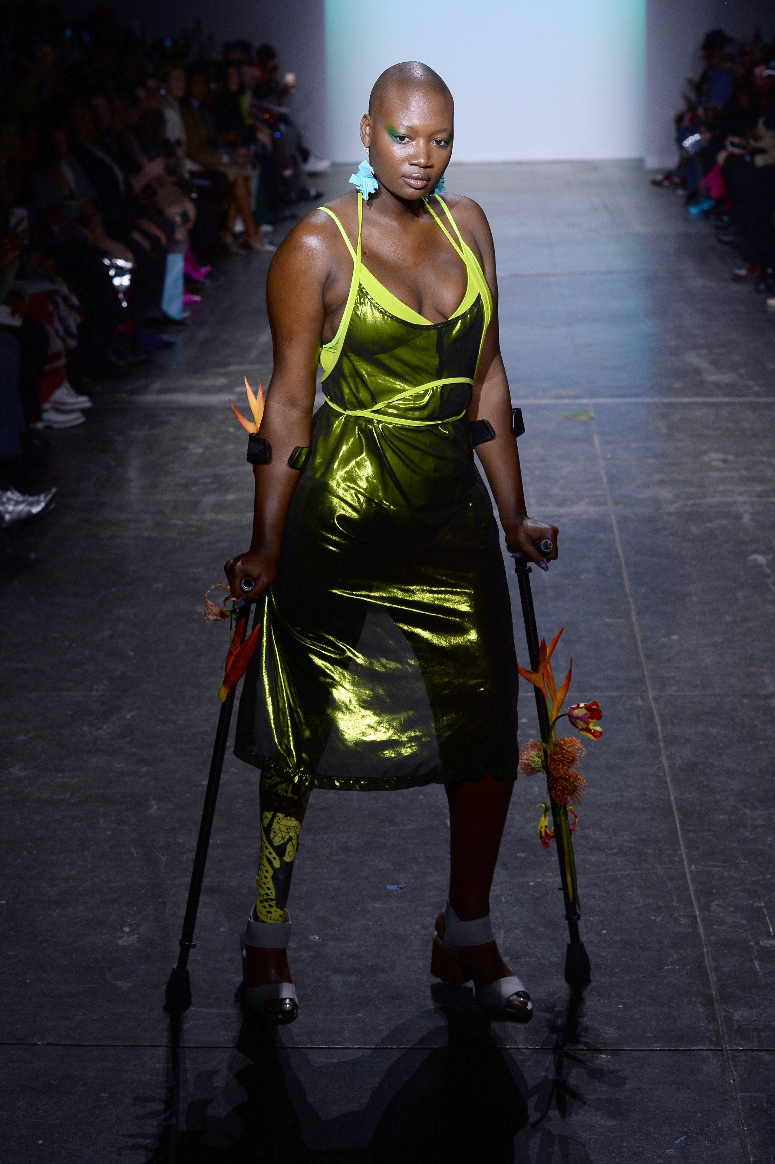 Mama Cax modelling for Chromat during New York Fashion Week on February 8, 2019. | Photo: Getty Images