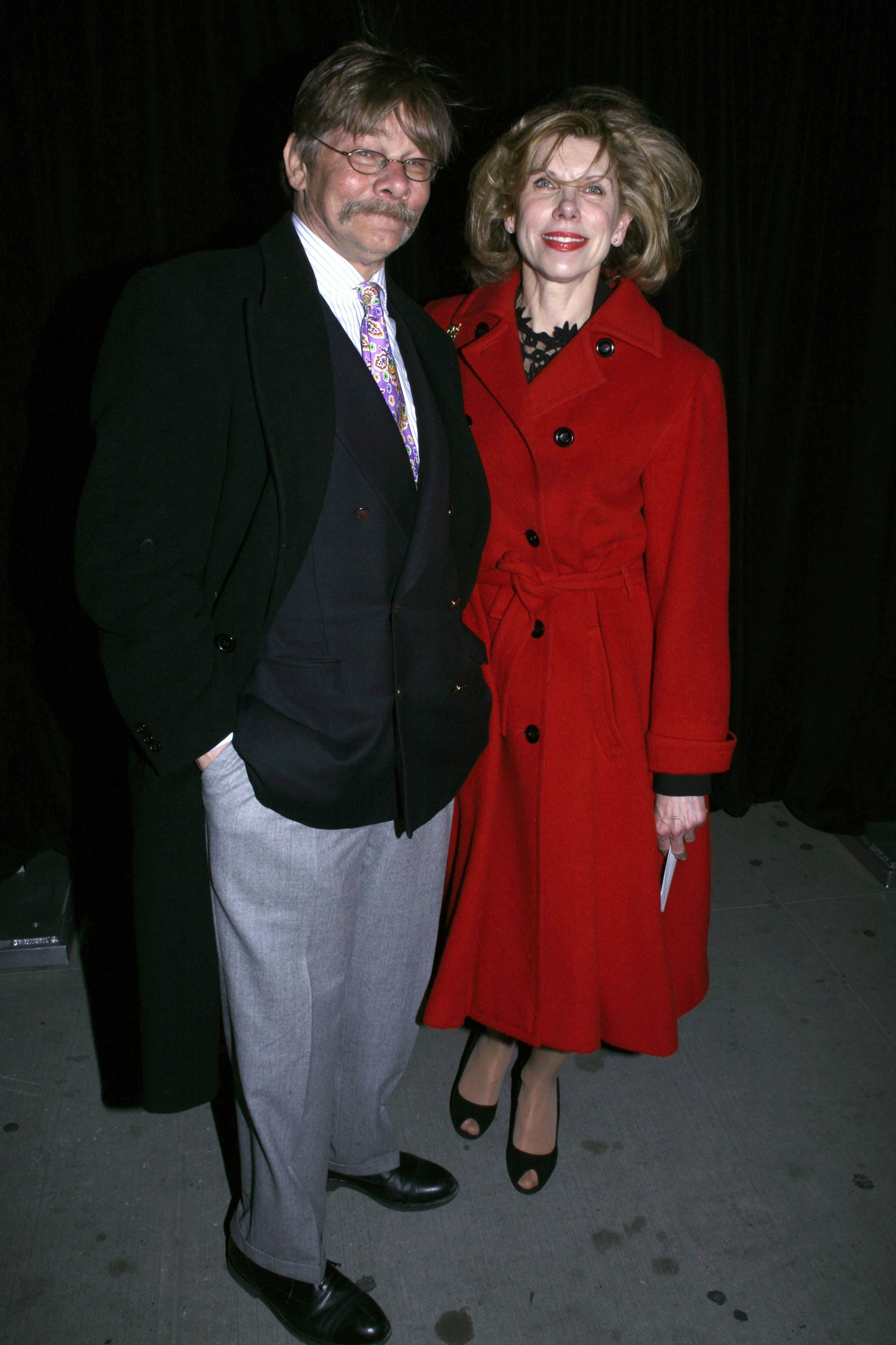Christine Baranski and Matthew Cowles in New York City. on March 29, 2007 | Source: Getty Images