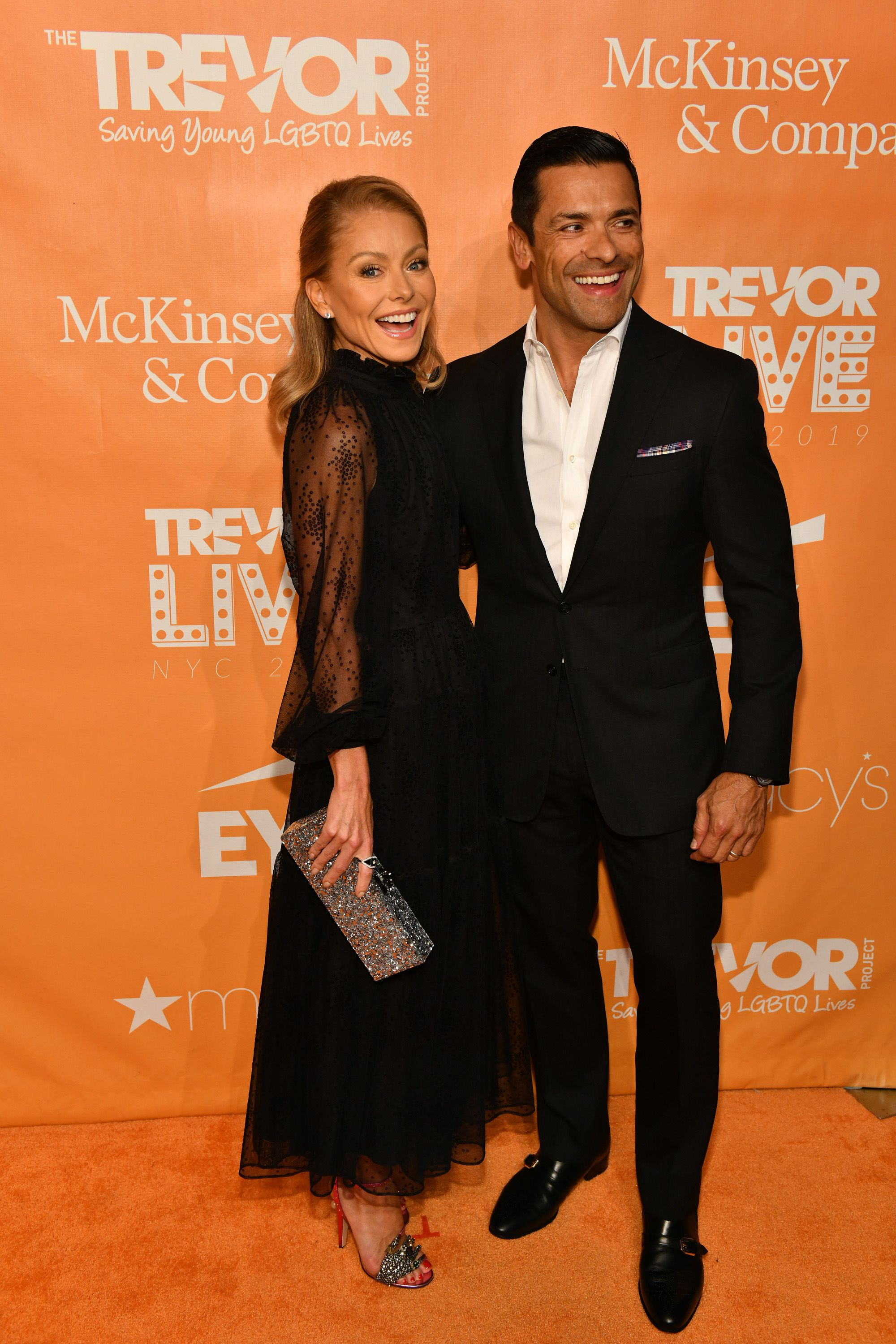 Kelly Ripa and Mark Consuelos at TrevorLIVE NY event at Cipriani Wall Street on June 17, 2019, in New York City | Photo: Craig Barritt/Getty Images