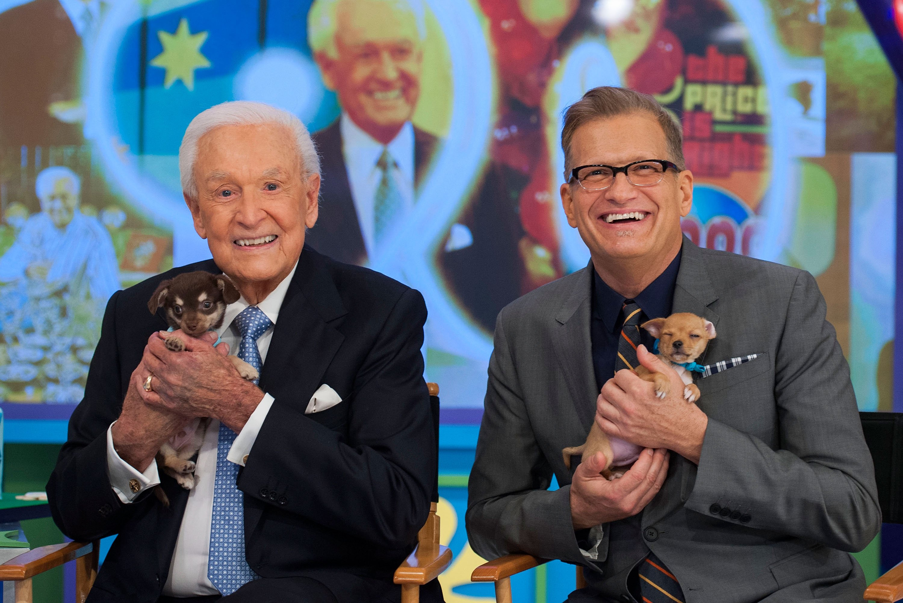 "Bob Barker and Drew Carey at CBS' ""The Price Is Right"" Celebrates Bob Barker's 90th Birthday on November 5, 2013 